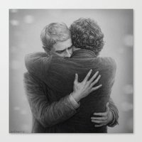 johnlock Canvas Prints featuring John and Sherlock by br0-harry