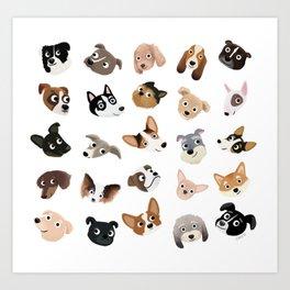 Dog Overload Portraits Art Print