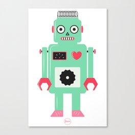 Domo Arigatou Mr. Roboto! - Mint Canvas Print