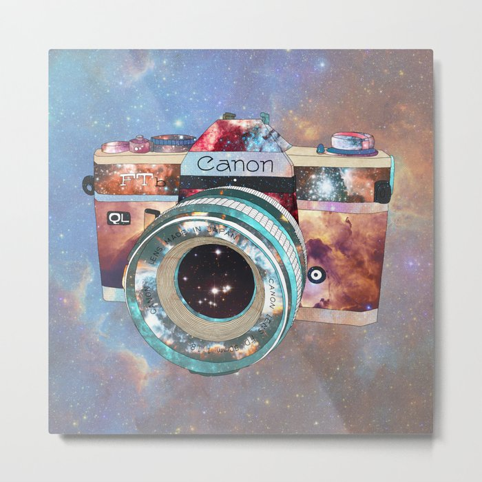 SPACE CAN0N Metal Print