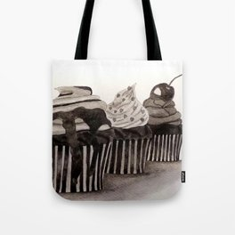 Cupcakes / Ink Painting Tote Bag