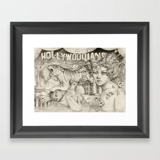 Hollywoodland Framed Art Print