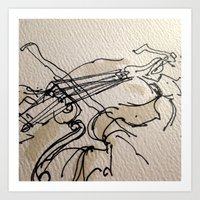 violin Art Prints featuring VIOLIN by cegraph