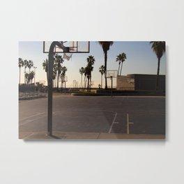 Venice Beach Basketball Series Number 3 Metal Print