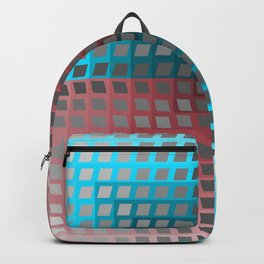 Rainbow Squares Victor Vasarely Style 4 Backpack