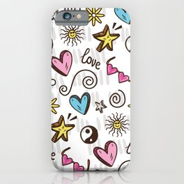 Teenager Pattern Love Decoration iPhone Case