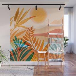 Golden Greek Garden / Sunset Landscape Wall Mural