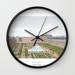 Paris art print Paris Decor office decoration vintage decor PALAIS ROYAL of Paris Wall Clock