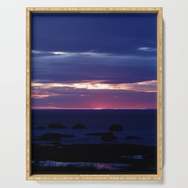 Purple Glow at Sunset Serving Tray