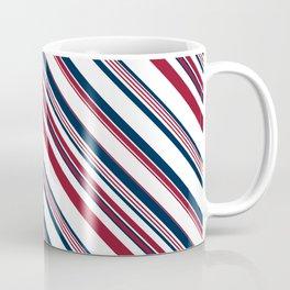Red and Blue Stripes Coffee Mug
