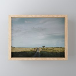 Lonely road in the English countryside Framed Mini Art Print