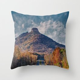 Pilot Mountain Throw Pillow