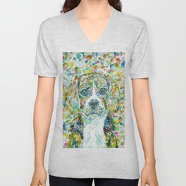 WATERCOLOR BEAGLE Unisex V-Neck