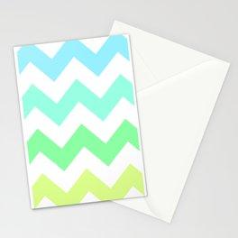 ombre sea foam chevron Stationery Cards