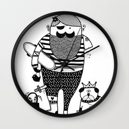 Hilary goes out Wall Clock