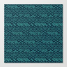 brocade indigo blue Canvas Print