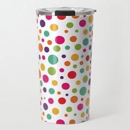 Jolly Colorful Dots Travel Mug
