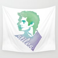 stiles Wall Tapestries featuring Watercolor Stiles by Liz Swezey