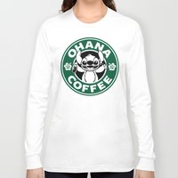 ohana Long Sleeve T-shirts featuring Ohana Coffee by Ellador