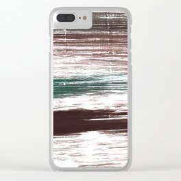 Brown striped Clear iPhone Case