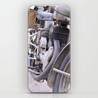 motorbike iPhone & iPod Skins featuring Old motorbike by Carlo Toffolo