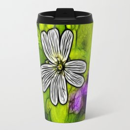 Fractal Stitchwort Travel Mug