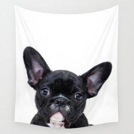 French bulldog portrait Wall Tapestry
