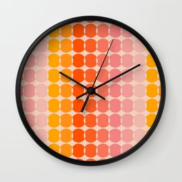 Strawberry Dots Wall Clock
