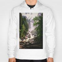 yosemite Hoodies featuring Yosemite Waterfall by Loaded Light Photography