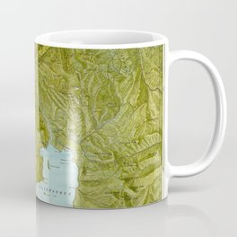 Map of Yellowstone 1898 Coffee Mug
