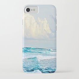 Blue Water Fluffy Clouds iPhone Case