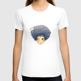 the girl with lamb hair T-shirt