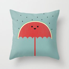 Watermelon Umbrella Throw Pillow