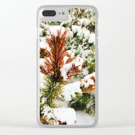 Snowy winter Clear iPhone Case