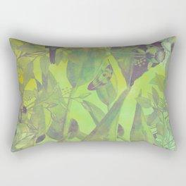 flowers pattern green #flowers #flora #pattern Rectangular Pillow