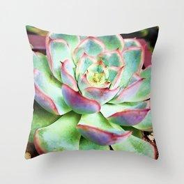 Good Vibes Succulent Throw Pillow