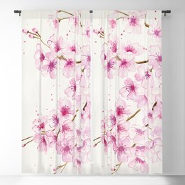 Cherry Blossom Blackout Curtain