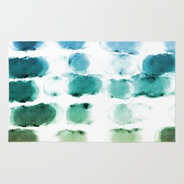 On the Beach Watercolor Painting Abstraction Rug