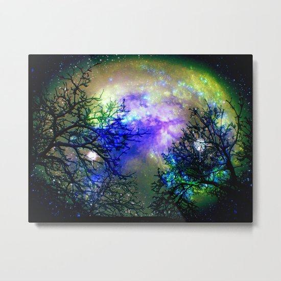 Stars Through The Trees Metal Print