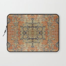 Vintage Woven Coral and Blue Laptop Sleeve