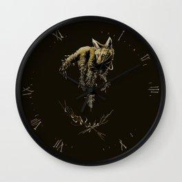 Amber Maned Wolf Wall Clock