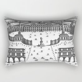 Veüe du Palais de Monsieur l'Electeur Palatin pour batir a Manheim du dessein du Sr. Marot 1670 Rectangular Pillow