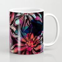 flora Mugs featuring flora by Janine Lecour