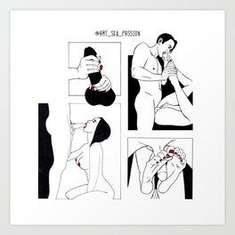 Adult games Art Print