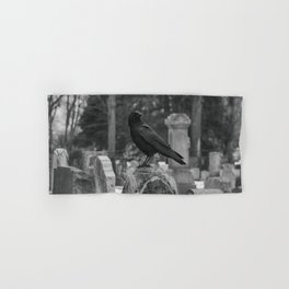 Crow In Shades Of Stone Hand & Bath Towel