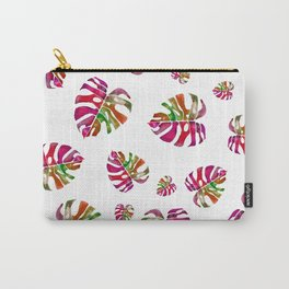 Colorful Monstera leaf Carry-All Pouch