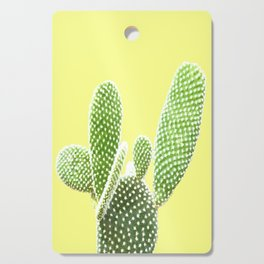 Cactus Yellow Background Cutting Board