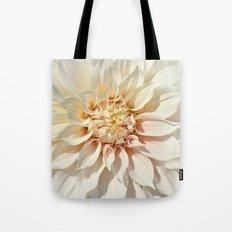 Dahlie white macro 043 Tote Bag