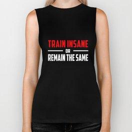 Train Insane Gym Crossfit Running Training Yoga T-Shirts Biker Tank