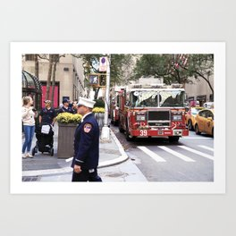 The Fire Dept of New York at 30 Rock Art Print
